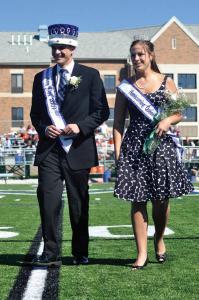 Homecoming King Kirk Shoemaker and Queen Kati Tompkins